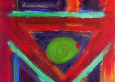 abstract, vivid painting of martini glass