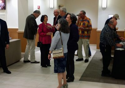 photo of people at mendoza's art show