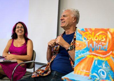 mendoza smiling at his book signing