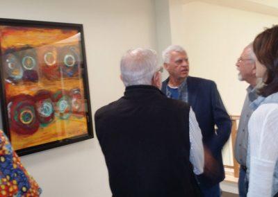 george mendoza speaking about his artwork