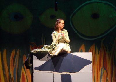 girl dressed as the caterpillar in alice in wonderland