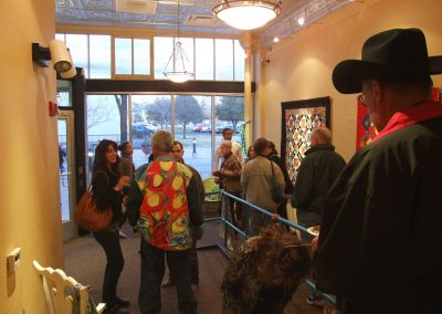 photo of people at mendoza's gallery show