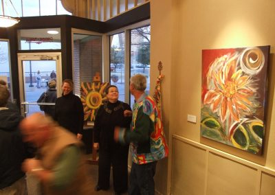 photo of mendoza at his gallery show