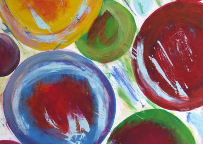 painting of multiple different colored circles