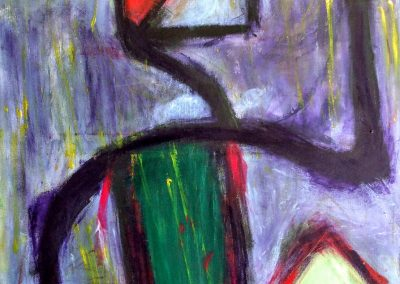 abstract painting of a figure dancing