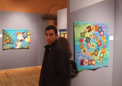 photo of a man at mendoza's art show