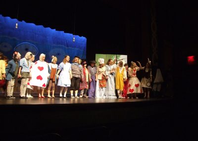 actors of the play are lined up