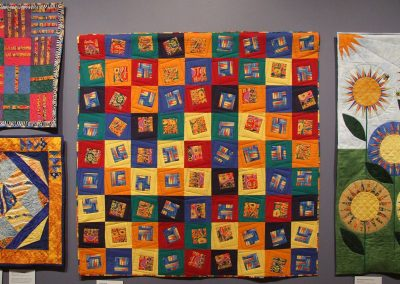 photo of mendoza's work with multicolored squares