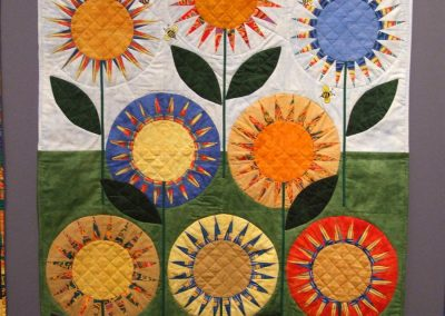 photo of mendoza's quilting work with flowers