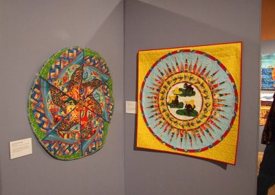 photo of mendoza's quilting works