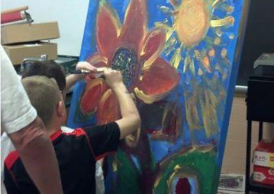 child making some artwork