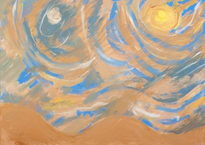 painting of abstract desert landscape