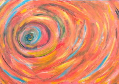 painting of vivid, abstract spiral