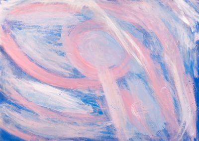 painting of pastel vivid landscape