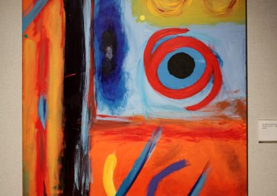 photo of mendoza's artwork of an abstract painting