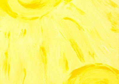 yellow painting of the sun