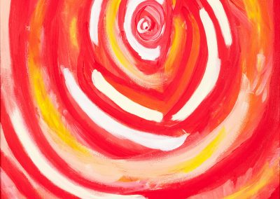 painting of abstract, red rose