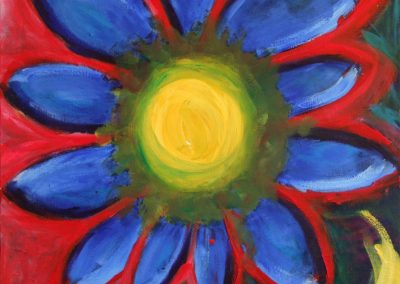 painting of a blue moonflower