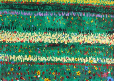 painting of a field of flowers