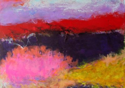 painting of abstract, vivid landscape