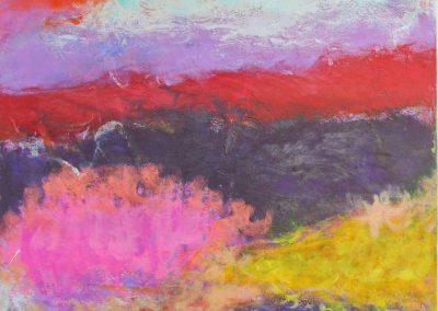 painting of vivid, expressive scene