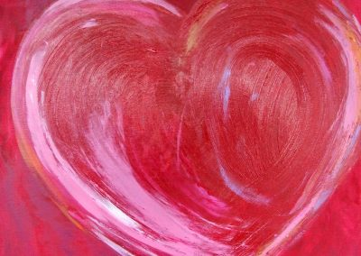 painting of a red heart